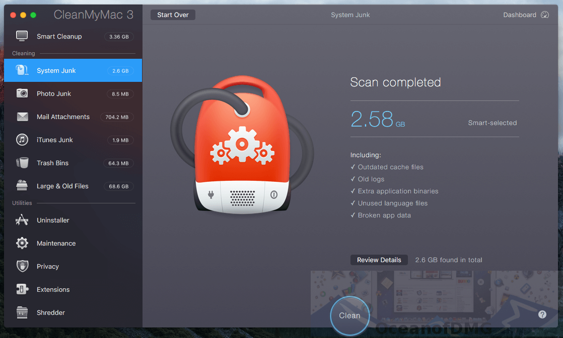 CleanMyMac for Mac. Offline Installer Download