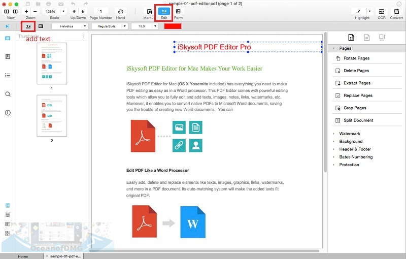 iSkysoft PDF Editor Professional for Mac Latest Version Download