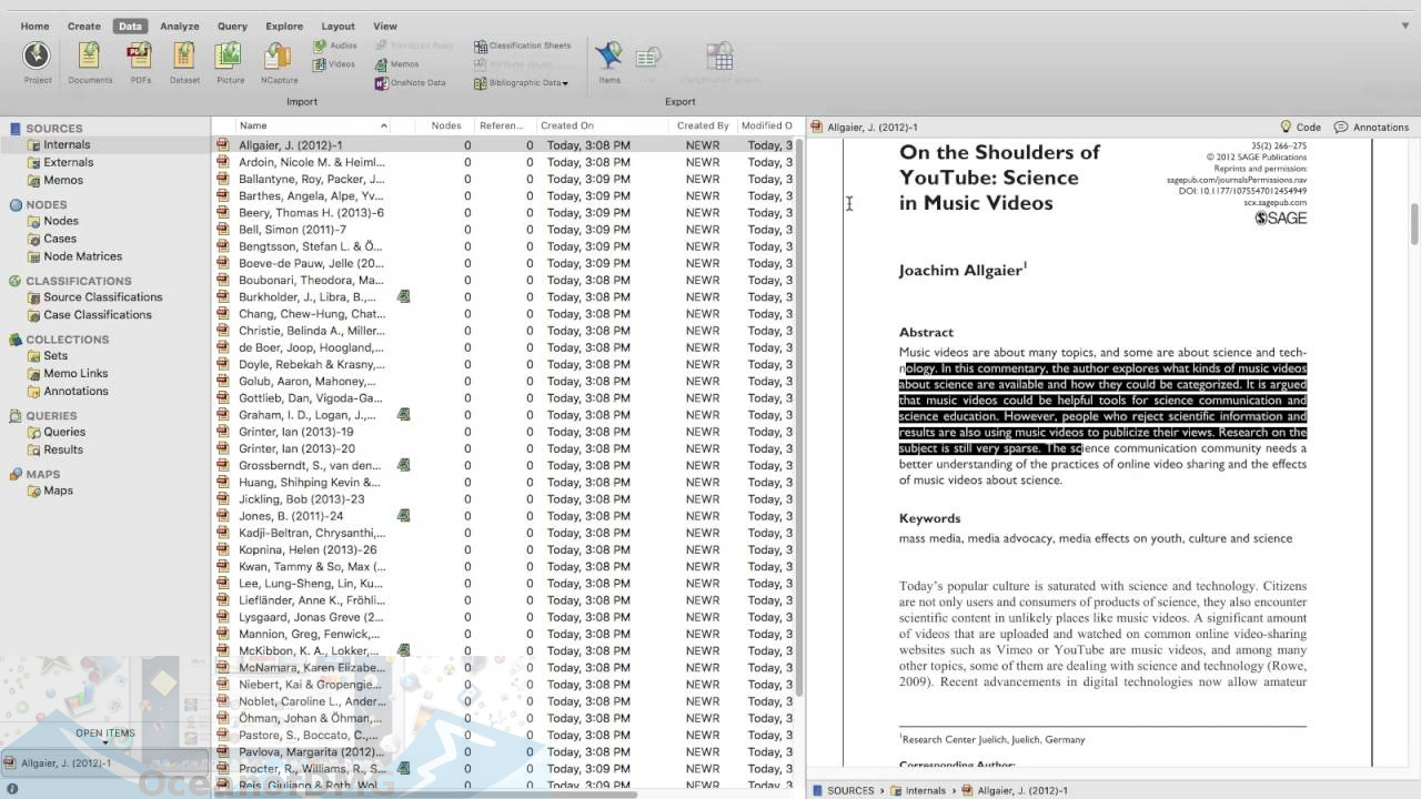 QSR NVIVO for Mac Offline Installer Download