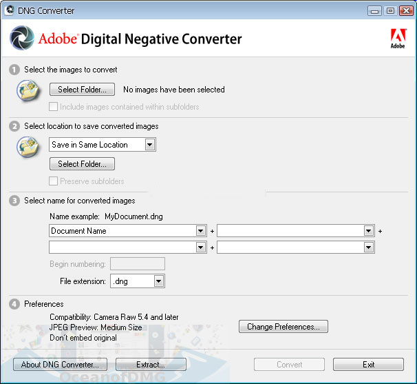 Adobe DNG Converter 10.2 for Mac Direct Link Download