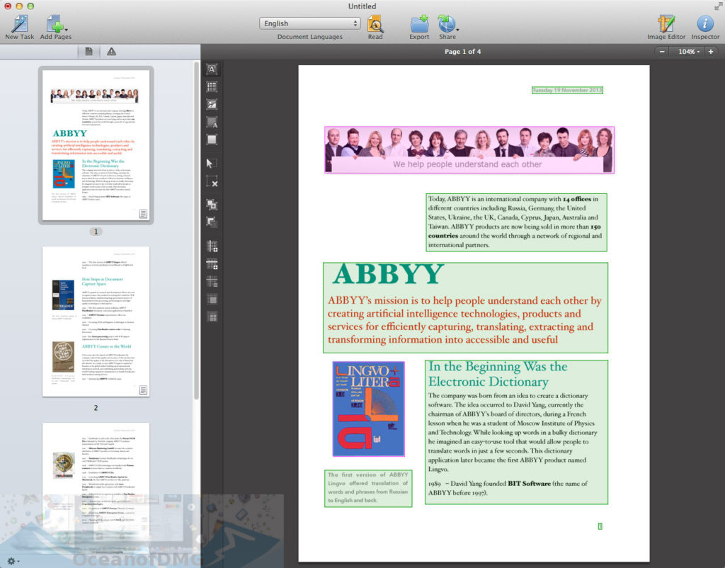 ABBYY FineReader 12.1.11 for Mac Direct Link Download