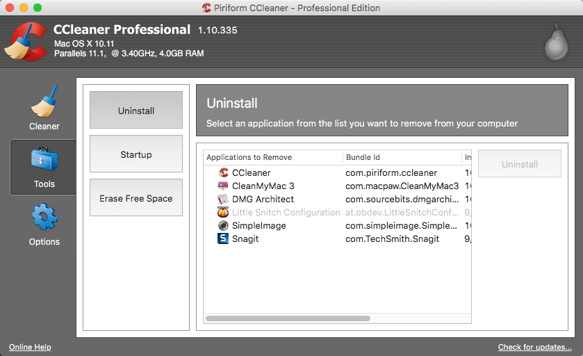 CCleaner Professional 1.15.507 for Mac Latest Version Download