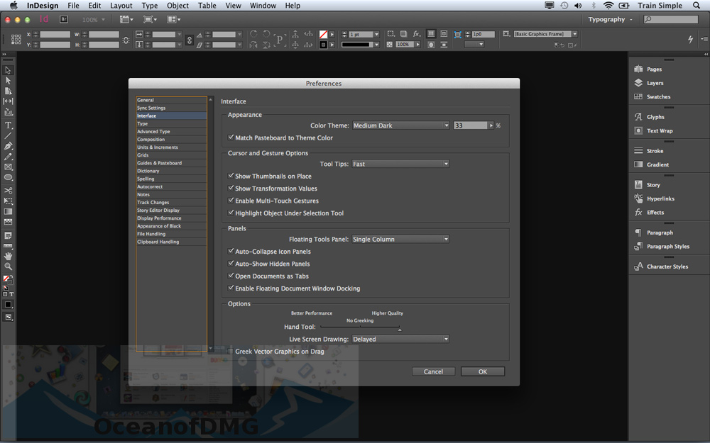 Adobe InDesign for Mac OS X Direct Link Download