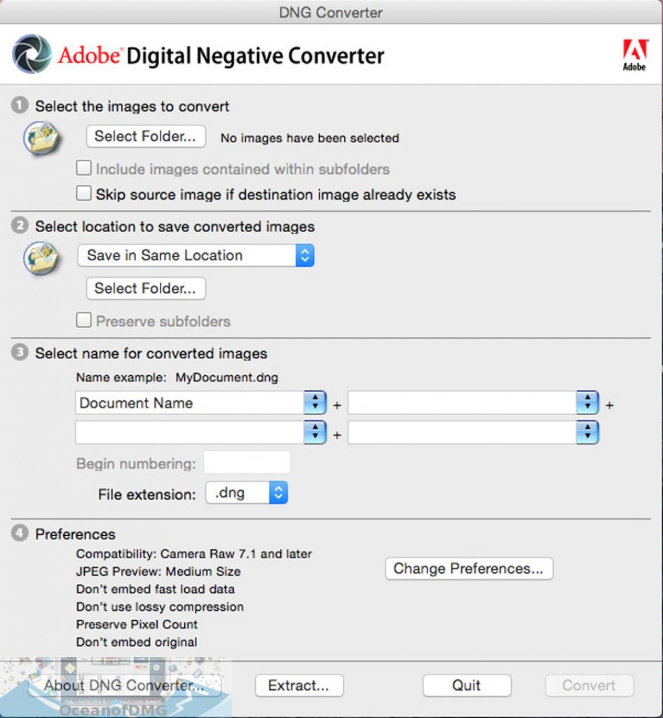 Adobe DNG Converter 11 for Mac Direct Link Download-OceanofDMG.com