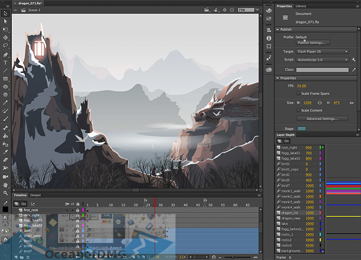 Adobe Animate CC 2019 for Mac DIrect Link Download-OceanofDMG.com