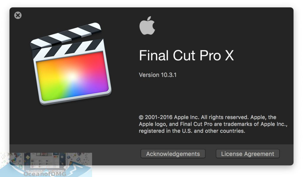 Apple Final Cut Pro X 10.3.1 for Mac OS X Offline Installer Download-OceanofDMG.com