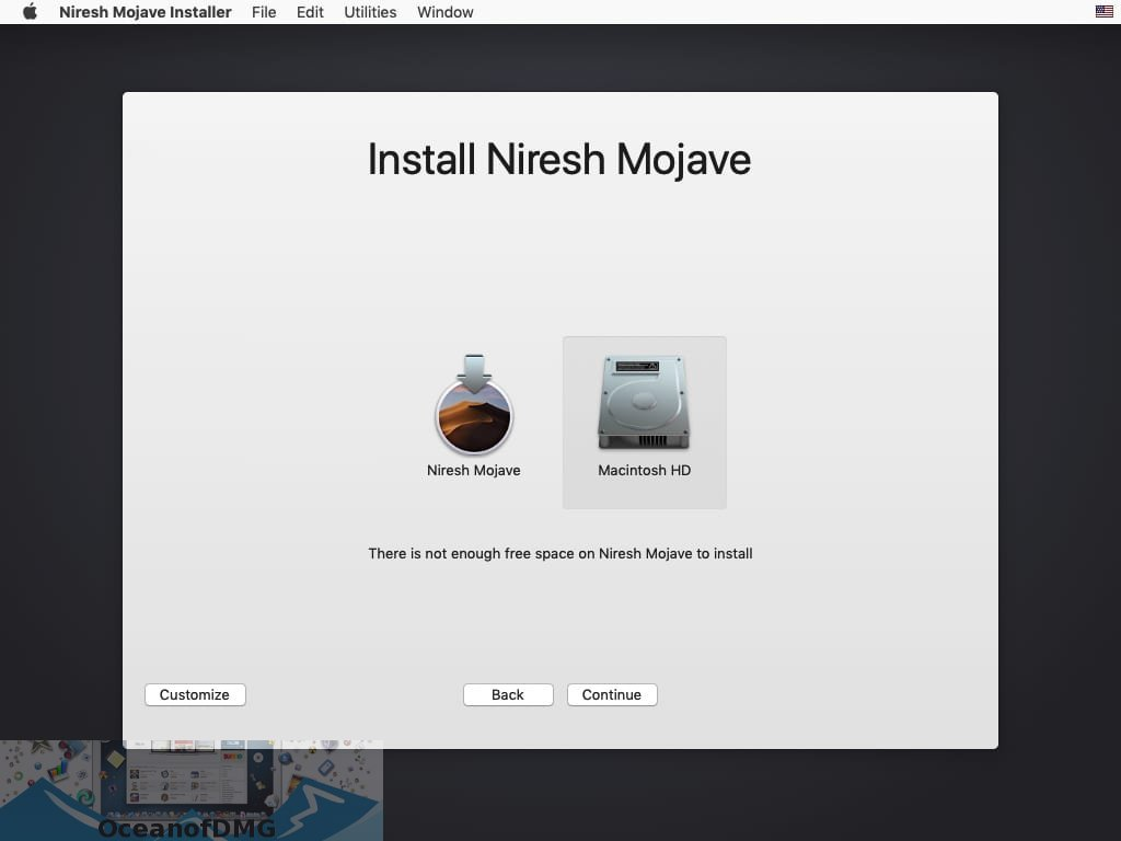 Niresh Mojave Hackintosh DMG Latest Version Download-OceanofDMG.com