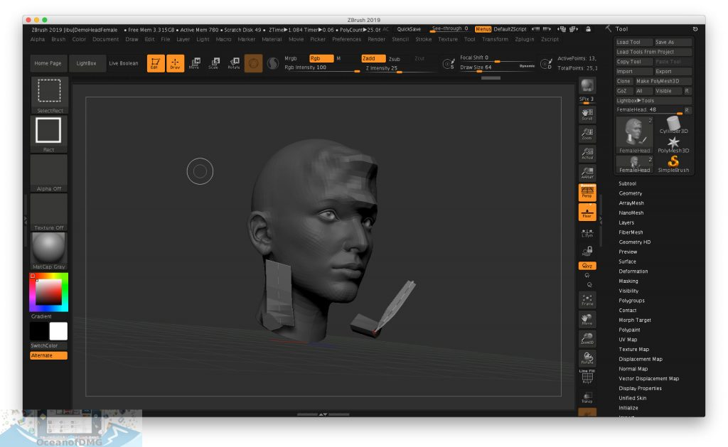 Pixologic Zbrush 2019 for Mac OS X Direct Link Download-OceanofDMG.com