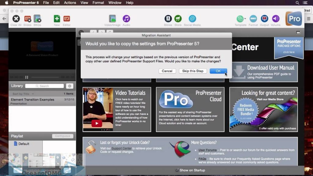 ProPresenter 6 for Mac Latest Version Download-OceanofDMG.com