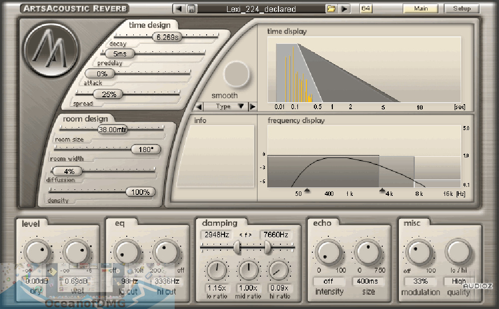 ArtsAcoustic Reverb VST for Mac Latest Version Download-OceanofDMG.com