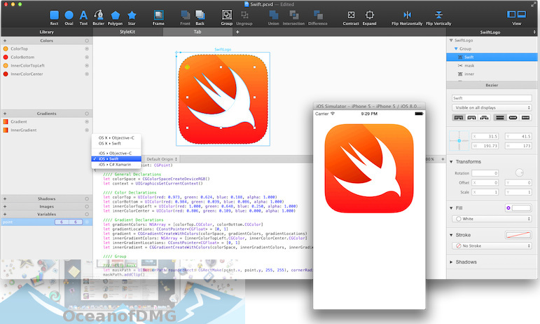 PaintCode Visual Code Generator for Mac Latest Version Download-OceanofDMG.com