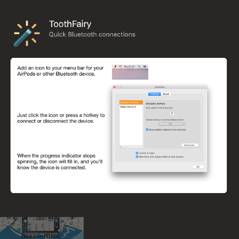 ToothFairy for Mac Offline Installer Download-OceanofDMG.com